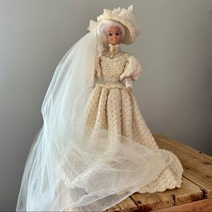 Vintage Crocheted Dress Victorian Doll!
